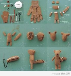 Cómo-hacer-un-osito-con-guantes-tejidos